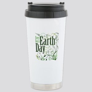 Every Day is Earth Day Stainless Steel Travel Mug