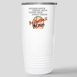 BASKETBALL MOM Stainless Steel Travel Mug