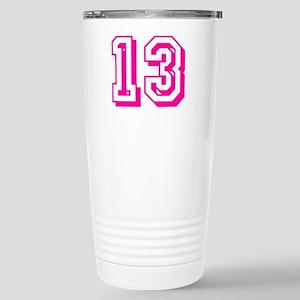 13 Pink Birthday Stainless Steel Travel Mug