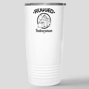 Rugged Indoorsman 16 oz Stainless Steel Travel Mug