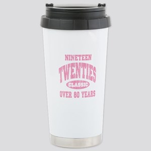 1920's Classic Pink Stainless Steel Travel Mug