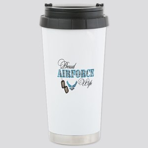 Proud Air Force Wife Stainless Steel Travel Mug