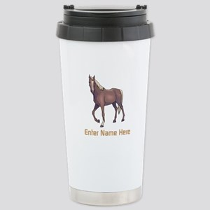Personalized Horse Stainless Steel Travel Mug