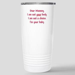 Dear Mommy Stainless Steel Travel Mug
