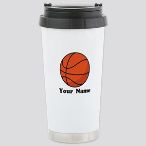 Personalized Basketball Stainless Steel Travel Mug