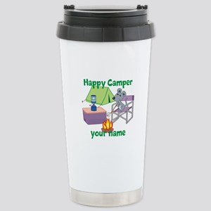Custom Happy Camper Mouse Travel Mug