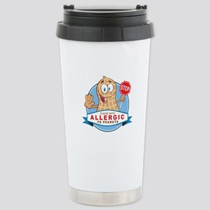 Allergic to Peanuts Stainless Steel Travel Mug