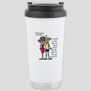 Marriage Humor Stainless Steel Travel Mug