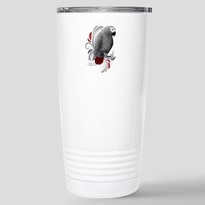 African Grey Stainless Steel Travel Mug