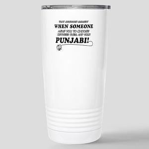 Funny Punjabi designs Stainless Steel Travel Mug