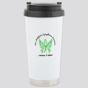 NH Lymphoma Butterfly 6 Stainless Steel Travel Mug
