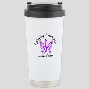 Epilepsy Butterfly 6.1 Stainless Steel Travel Mug