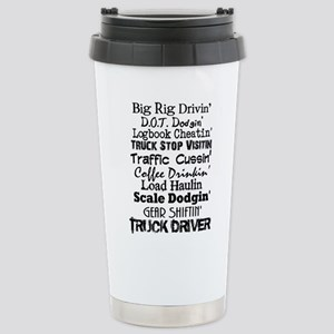 Big Rig Drivin' Stainless Steel Travel Mug