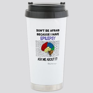 ASK ME ABOUT IT 16 oz Stainless Steel Travel Mug