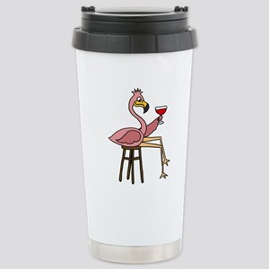 Flamingo Stainless Steel Travel Mug