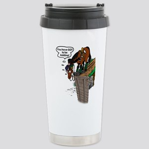 Horse at Drop Jump Stainless Steel Travel Mug