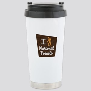 I HIKE NATIONAL FORESTS Stainless Steel Travel Mug