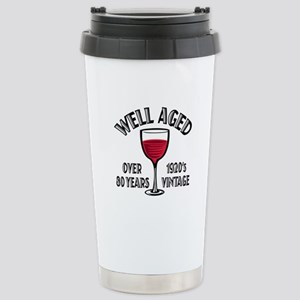 Over 80th Birthday Stainless Steel Travel Mug