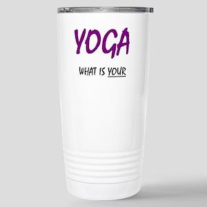 teach yoga Stainless Steel Travel Mug