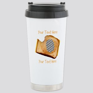 YOUR FACE Grilled Chees Stainless Steel Travel Mug