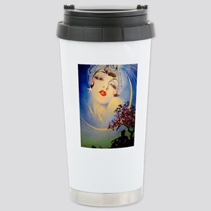 Henry Clive Woman in the Moon, Art Deco Travel Mug