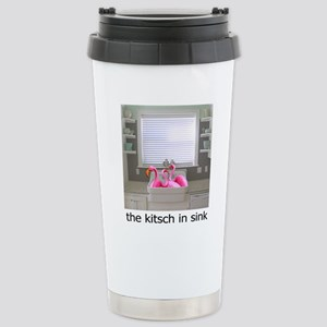 sink flamingos 1 for bl Stainless Steel Travel Mug