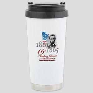16th President - Stainless Steel Travel Mug