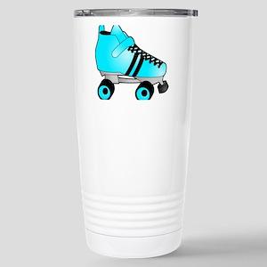 Zebra Pink and Black Ice Skate Travel Mug