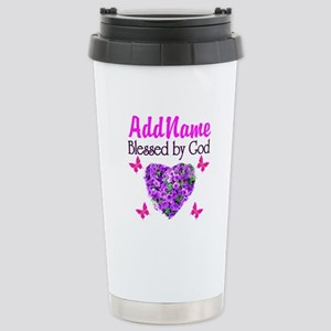 BLESSED BY GOD Stainless Steel Travel Mug