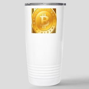 Bitcoins-3 Stainless Steel Travel Mug