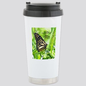 Thinking Butterfly Stainless Steel Travel Mug