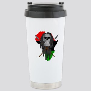 Warrior Skull Stainless Steel Travel Mug
