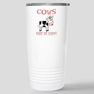 Cows Stainless Steel Travel Mug