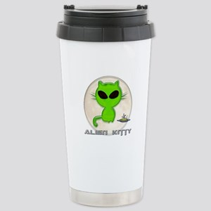 alien kitty Stainless Steel Travel Mug