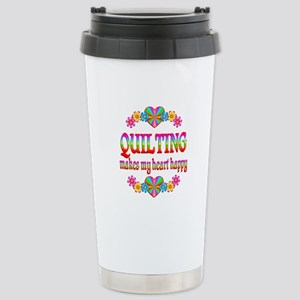 Quilting Happy Stainless Steel Travel Mug