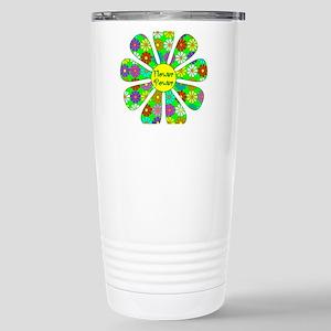 Cool Flower Power Stainless Steel Travel Mug