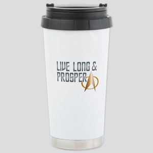 LIVE LONG & PROSPER Stainless Steel Travel Mug