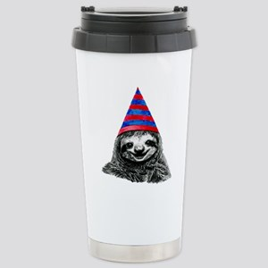 Party Sloth Stainless Steel Travel Mug