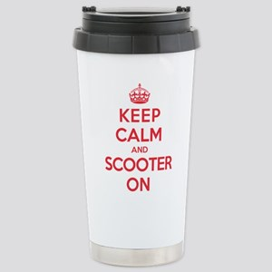 Keep Calm Scooter Stainless Steel Travel Mug