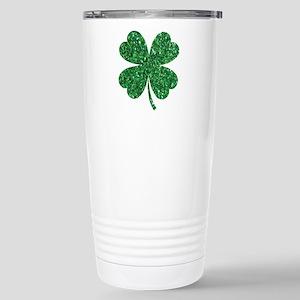 Green Glitter Shamrock st. particks Irish Mugs