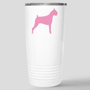 Pink Boxer Dog Stainless Steel Travel Mug