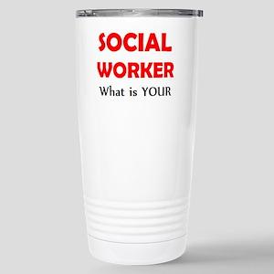 social worker 16 oz Stainless Steel Travel Mug