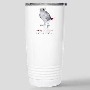 i love african greys Stainless Steel Travel Mug