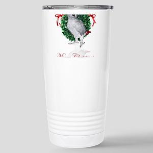 african grey christmas Stainless Steel Travel Mug