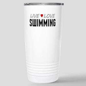 Live Love Swimming Ceramic Travel Mug