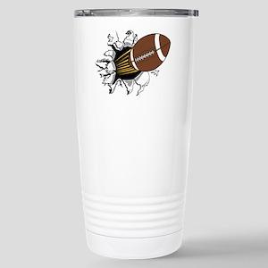 Football Burster Stainless Steel Travel Mug