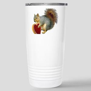 Squirrel Valentine Stainless Steel Travel Mug