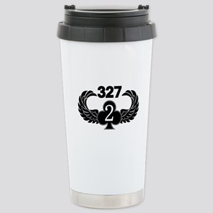 2-327 (2 of Clubs-1) Stainless Steel Travel Mug