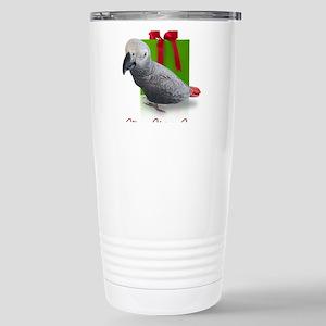 African Grey Holiday Travel Mug