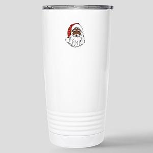 black santa claus Stainless Steel Travel Mug